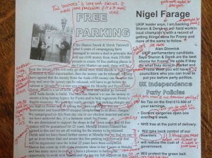 UKIP's flier attracted some attention