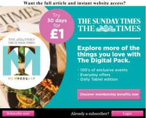 The Times charge for access to online content